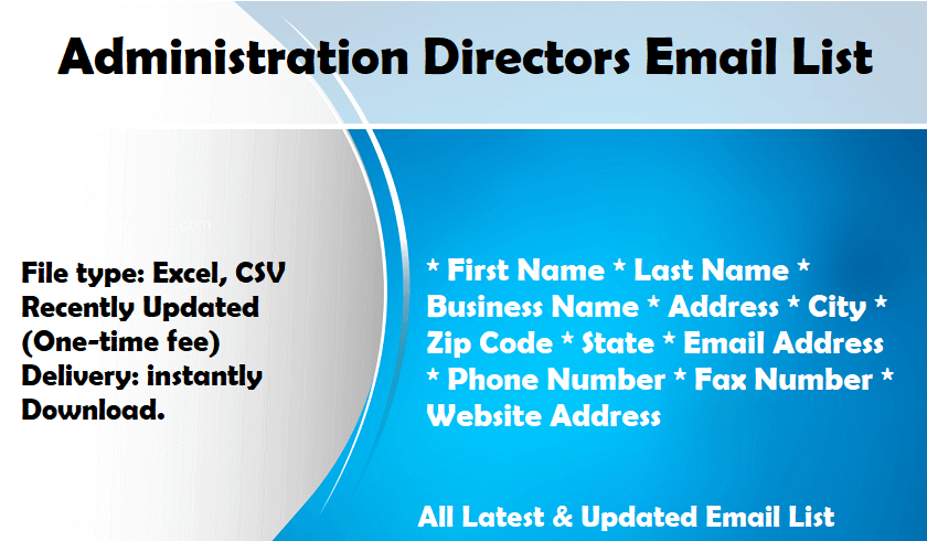 Administration Directors Email List