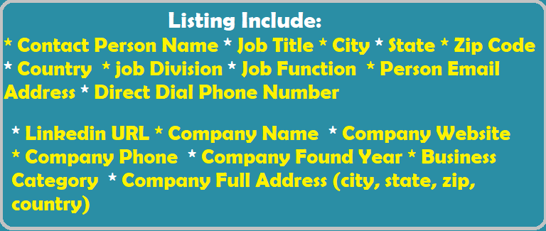 B2B Email Listing Include