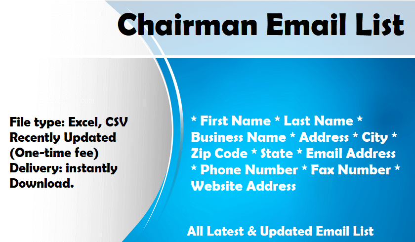 Chairman Email List