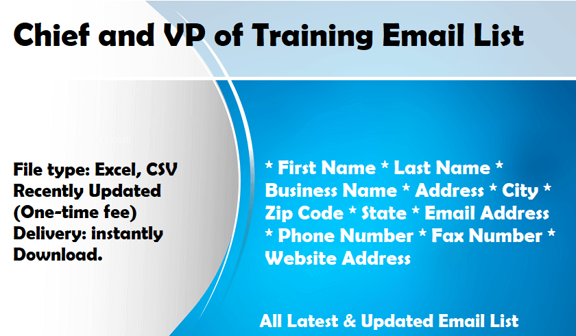 Chief and VP of Training Email List