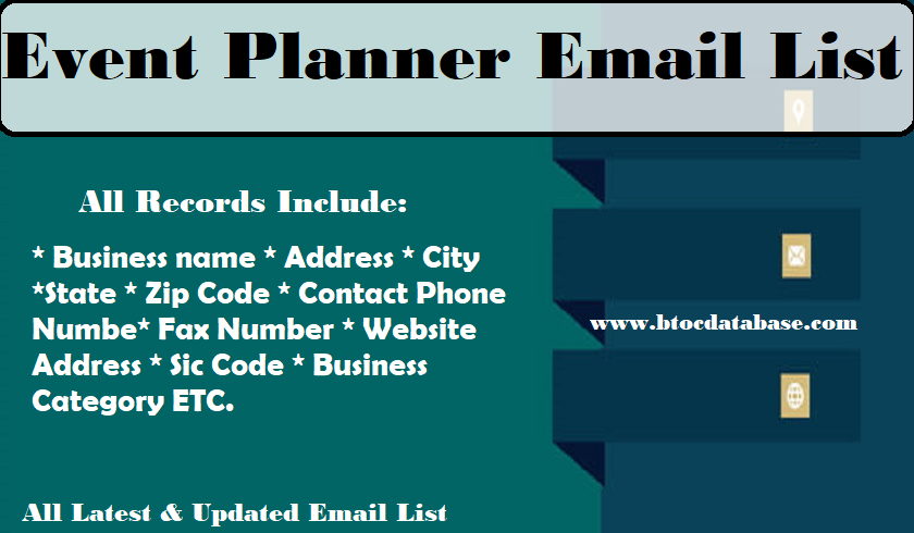 Event Planner Email List