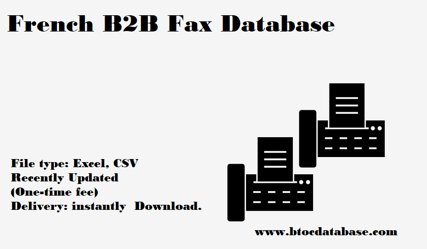 French B2B Fax Database