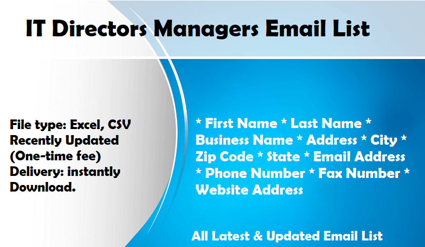 IT Directors Managers Email List