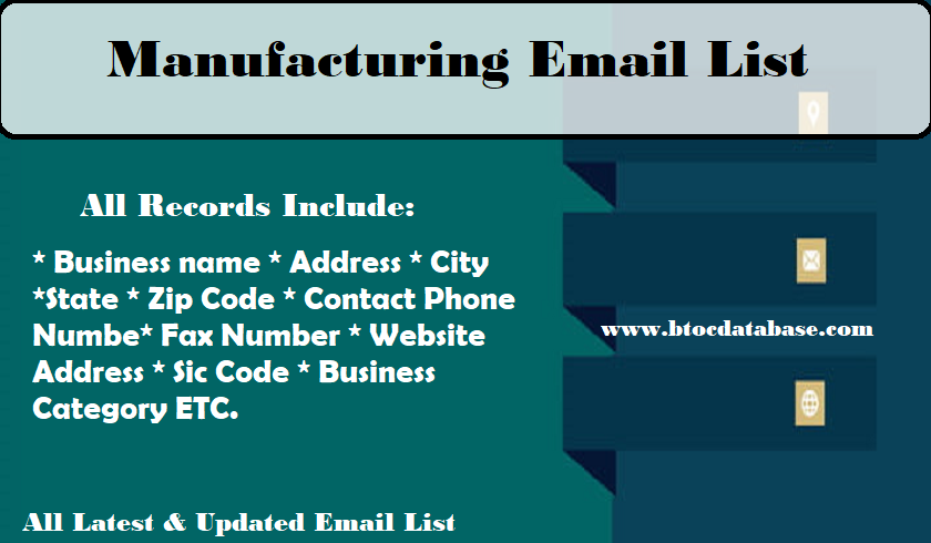 Manufacturing Email List