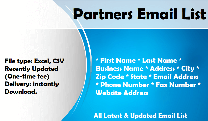 Partners Email List