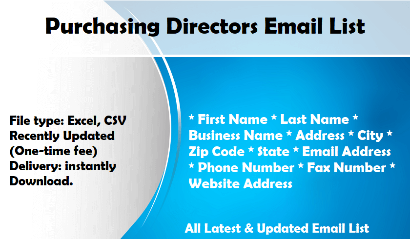 Purchasing Directors Email List