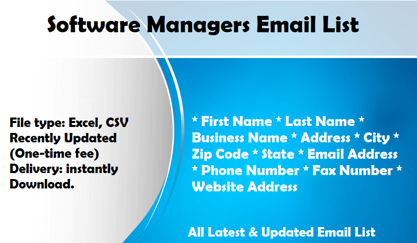Software Managers Email List