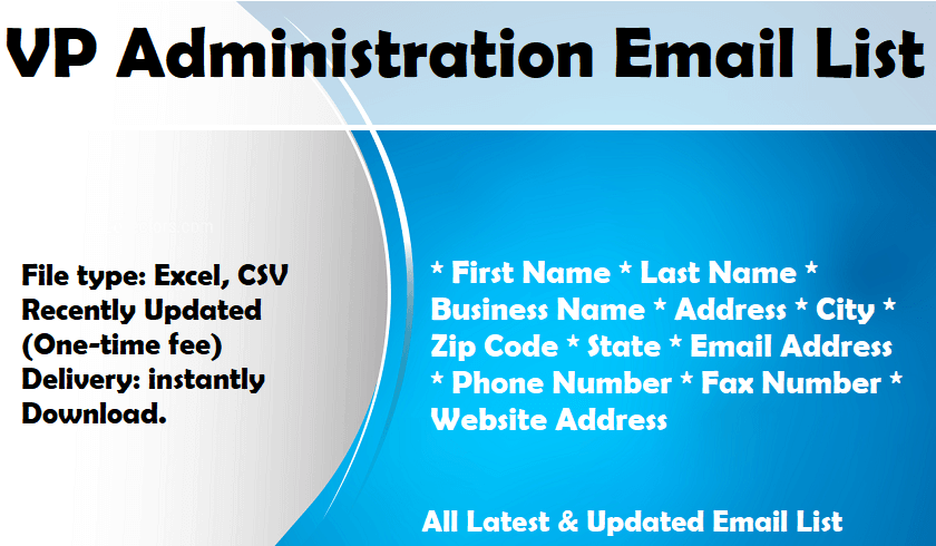 VP Administration Email List