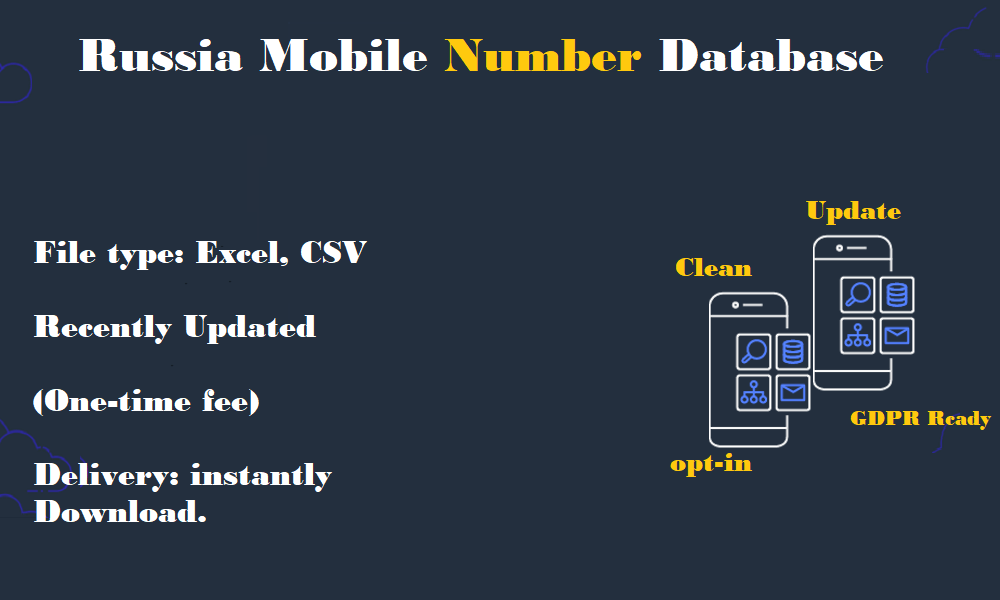 Russia Mobile Number Database