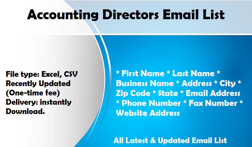 Accounting Directors Email List