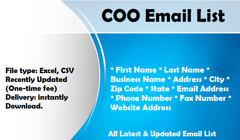 COO Email List