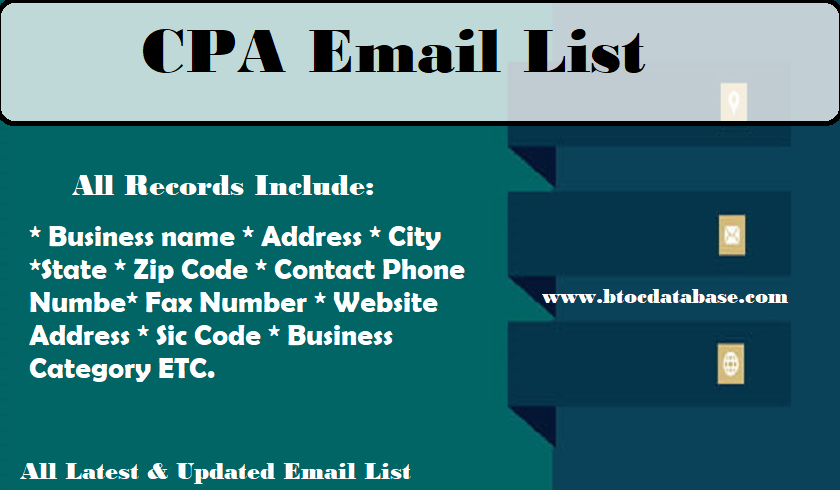 CPA Email List