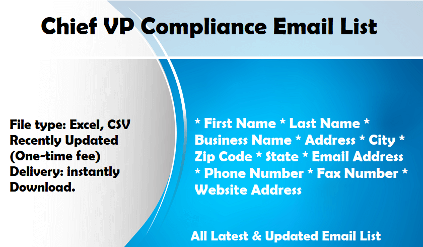 Chief VP Compliance Email List