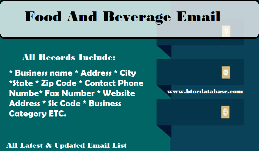 Food And Beverage Email
