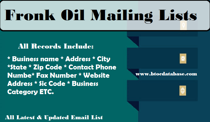 Fronk Oil Mailing Lists