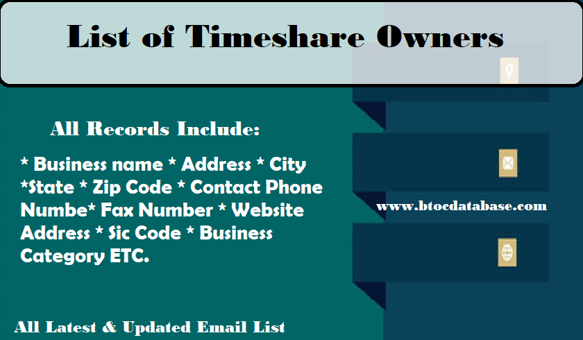 List of Timeshare Owners