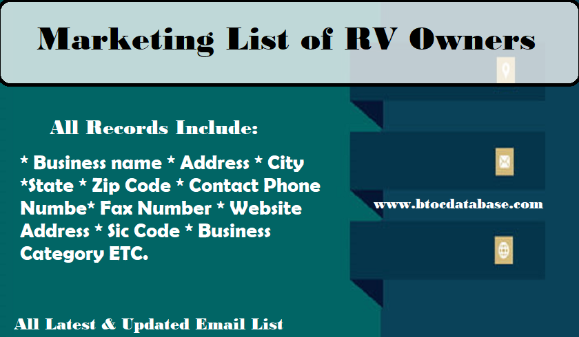 Marketing List of RV Owners