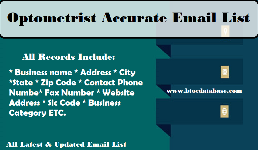 Optometrist Accurate Email List