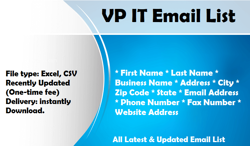 VP IT Email List