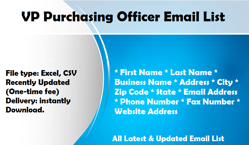 VP Purchasing Officer Email List