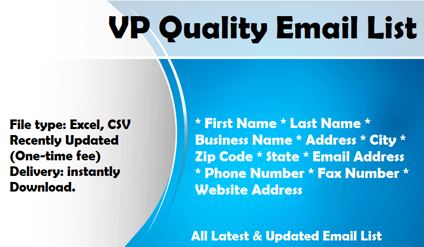 VP Quality Email List
