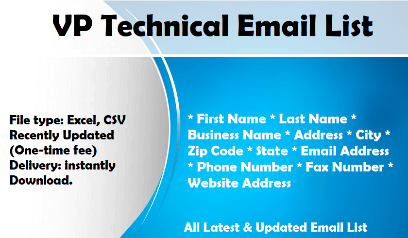 VP Technical Email List