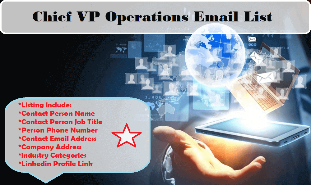 Chief VP Operations Email List