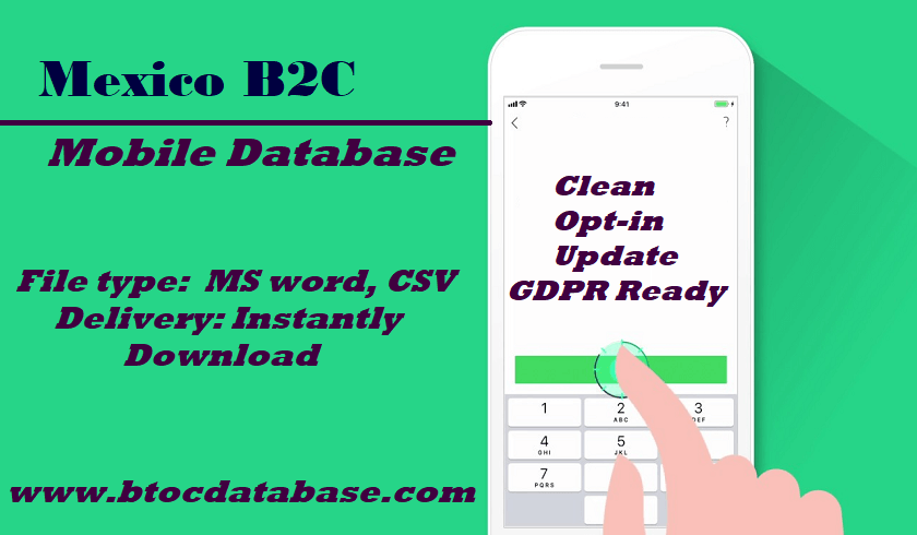 Mexico B2C Mobile Database